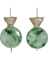 Sandra Dini - Jade Earrings - Lyst
