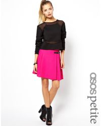 Asos Asos Mini Kilt Skirt - Lyst