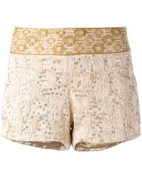Haute Hippie Embellished Shorts - Lyst