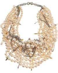 Tom Binns - Pearls in Peril Gold Plated Swarovski Crystal Necklace - Lyst