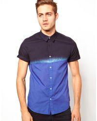 Simon Carter - Asos Shirt in Short Sleeve with Dip Dye - Lyst