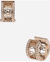 MICHAEL Michael Kors Michael Kors Monogram Small Hoop Earrings - Lyst