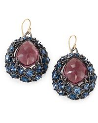 Alexis Bittar Bicolor Glass and Crystal Earrings - Lyst