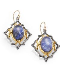 Alexis Bittar Sodalite and White Quartz Doublet Earrings - Lyst