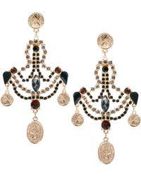 ASOS - Asos Coin Jewel Chandelier Earrings - Lyst