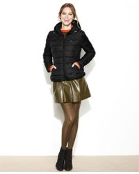 Bebe - Hooded Quilted Packable Puffer - Lyst