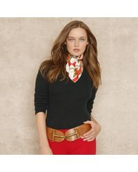 Ralph Lauren Blue Label Wool Angora Sweater - Lyst