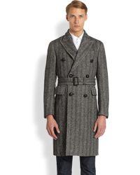 Burberry Fairwood Wool Coat - Lyst