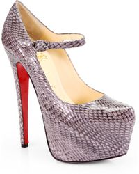 Christian Louboutin Lady Daf 160 Cobra Mary Jane Pumps - Lyst