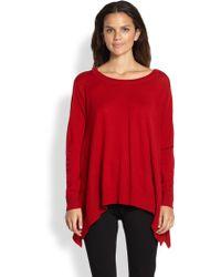DKNY Merino Wool Trapeze Pullover - Lyst