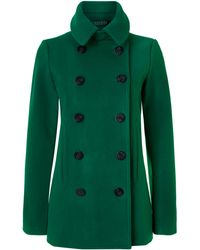 Lauren by Ralph Lauren - Pea Coat Double Brested Coat - Lyst