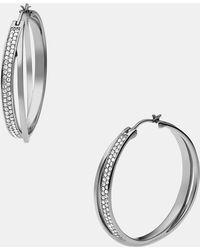 MICHAEL Michael Kors Michael Kors Brilliance Hoop Earrings - Lyst