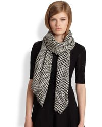 Rag & Bone Edward Graphic Houndstooth Wool Scarf - Lyst