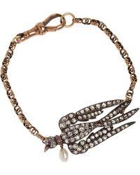 Annina Vogel - Diamond Swallow Bracelet - Lyst