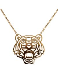 KENZO - Tiger Necklace - Lyst