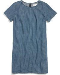 Madewell Denim Shiftdress blue - Lyst