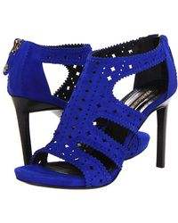 Roberto Cavalli Perforated Goat Suede Sandal - Lyst