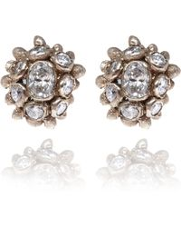 Ruth Tomlinson - 18ct Gold Diamond Cluster Stud Earrings - Lyst