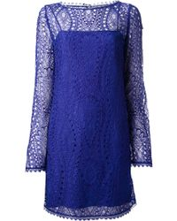 Emilio Pucci Long Sleeve Dress - Lyst