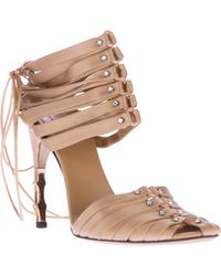 Gucci Vintage Bamboo Style Strappy Sandal - Lyst