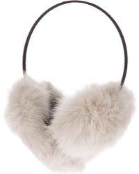 Meteo by Yves Salomon - Rabbit Fur Earmuffs - Lyst