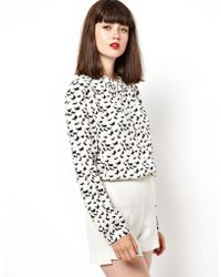 Boutique by Jaeger - Shirt in Bird Print - Lyst