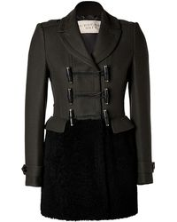 Burberry Brit Wool cashmere Blend Sallisdales Coat in Dark Olive - Lyst