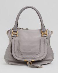 Chloé Marcie Medium Shoulder Bag Gray - Lyst