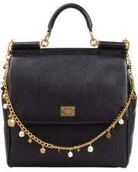 Dolce & Gabbana Large Leather Bag - Lyst