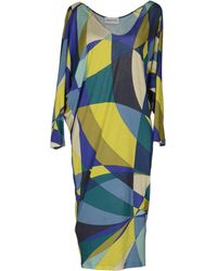 Emilio Pucci 3/4 Length Sleeve Jersey Knee Length Dress - Lyst