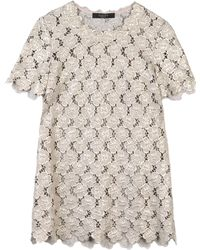 Giles Silver Blouse - Lyst