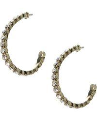 TFNC Orelia Sparkle Hoop Earring - Lyst