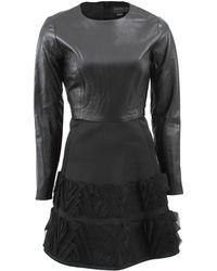 Sachin & Babi Leather Combo Lynx Dress - Lyst