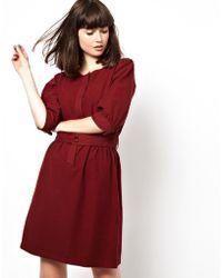 Sessun Winter Woven Dress with Belt - Lyst