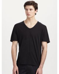 T By Alexander Wang Basic Low-Neck Tee - Lyst