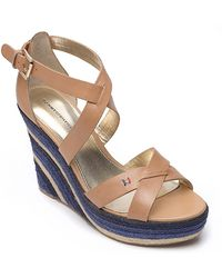 Tommy Hilfiger Colored Espadrille Wedge - Lyst