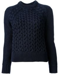 Acne Studios Acne Cable Knit Sweater - Lyst