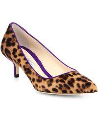 Brian Atwood Degas Leopardprint Calf Hair Pumps - Lyst