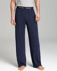 Calvin Klein Modal Lounge Pants blue - Lyst