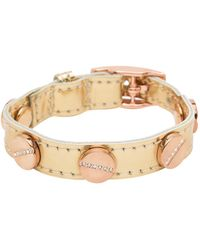 CC SKYE The Signature Screw Bracelet with Rose Gold Pave - Lyst