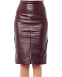 Eudon Choi - Terra Leather Pencil Skirt - Lyst