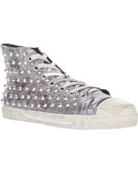 Gienchi Studded Hi Top Sneakers - Lyst