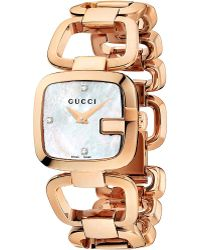 Gucci G Collection Yellowgold Pvd Watch Pearl - Lyst