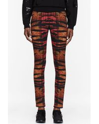McQ by Alexander McQueen Orange Tiger And Tartan Print High_Waisted Pants - Lyst