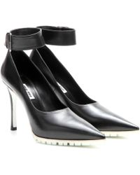 Miu Miu Leather Pumps with Ankle Strap - Lyst
