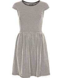 Topshop Textured Polkadot Dress - Lyst