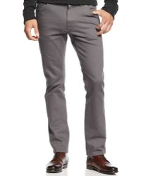 Vince Camuto - Grey Twill Colored Denim Trousers - Lyst