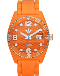 adidas - Unisex Sports Watch Orange - Lyst