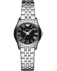 Emporio Armani Stainless Steel Watch Black - Lyst