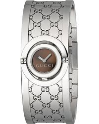 Gucci Twirl Collection Stainless Steel Watch Grey - Lyst